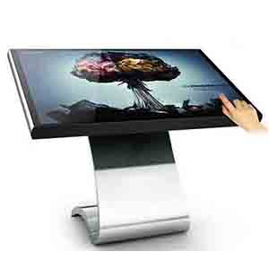 65 inch S size floor standing touch screen all in one